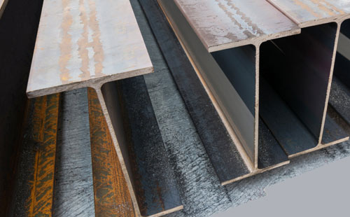 A close up image of steel