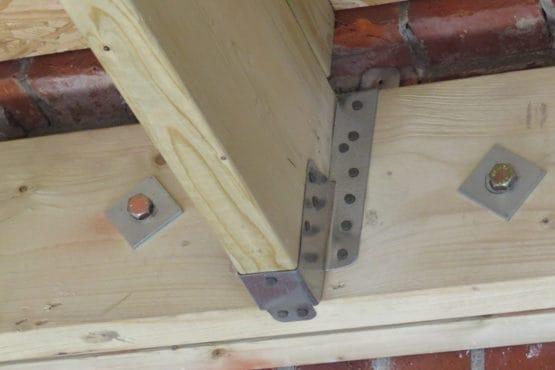 A close up of timber
