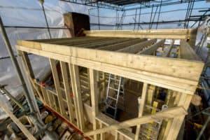 A loft conversion in build