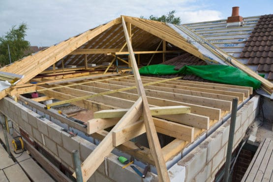 An in build timber roof